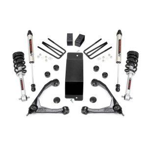 3.5in GM Suspension Lift Kit, Upper Control Arms, N3 Struts & V2 Monotube (14-16 1500 PU 4WD)