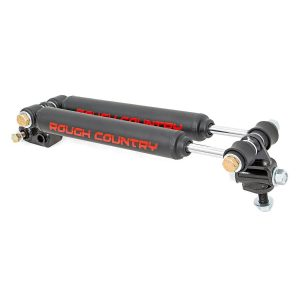 Rough Country Stacked Dual Steering Stabilizer for 2.5-6.5-inch Lifts